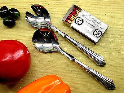Kl. Beilagen- Salatbesteck CROMARGAN WMF 900 Fächermuster 90 g versilbert *0049c