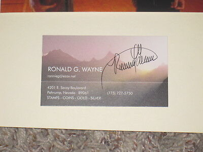 Apple Computer Founder RONALD WAYNE Signed Business Card AUTOGRAPH