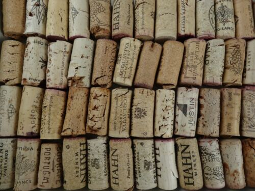 Discounted NATURAL Slightly Damaged Used Real Wine Corks Lot 1 10 20 30 40 50