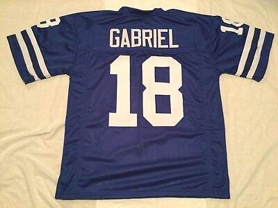 UNSIGNED CUSTOM Sewn Stitche Roman Gabriel Old Style Blue Jersey - M, L, XL, 2XL