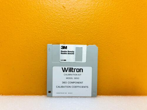 Wiltron Anritsu 3650 Series 360 Component Calibration Coefficients Software Disk