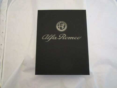 Alfa Romeo 4C welcome kit with leather luggage tags and brochure literature box