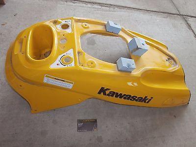99 00 01 02 Kawasaki Jet Ski 1100 ZXi 1100zxi Hull Center Yellow Handle Cover