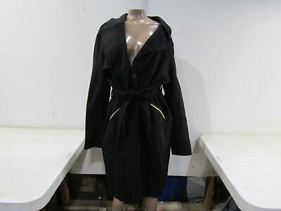Michael Kors Women's US 8 Double-Face Wrap Coat Black