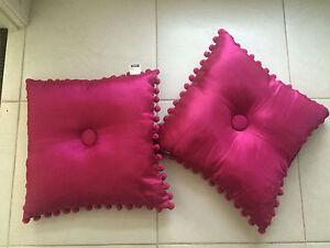 Fuschia Pom Pom Cushions Cessnock Cessnock Area Preview