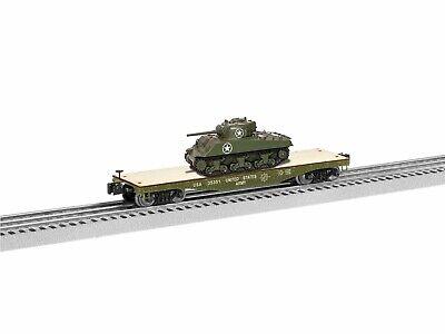 O-Gauge - Lionel - US Army 40' Flatcar w/ Tank #35351