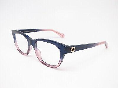 New Authentic Gucci GG0372O 004 Blue Eyewear Eyeglasses 51mm (Gucci Eyewear Womens)