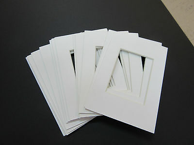 Picture Frame Mat set of 10 mats 5x7 for 4x6 photo soft white mats