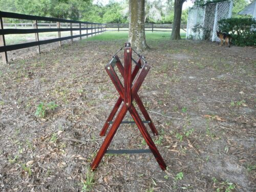 Saddle Stand Saddle Cleaner   cherry with silver trim