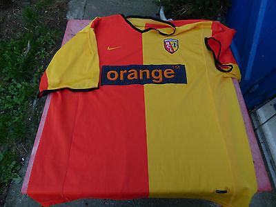 maillot de foot RC Lens Orange Nike XL vintage