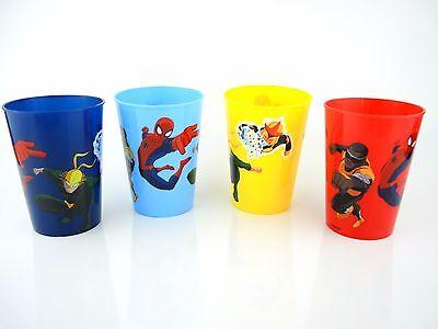 MARVEL Spiderman &Co 4 teiliges Kinder Becher SET Trinkbecher 300ml Kinderbecher