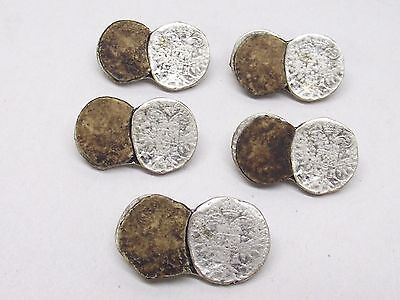 Vintage Faux Germany Bavaria Foreign Coin Antler Button Set Lot of 5 ST Metal