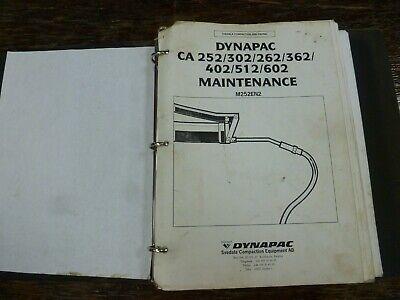 Dynapac Ca252 Ca302 Ca262 Smooth Drum Roller Shop Service Maintenance Manual