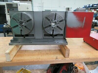 Haas Hrt-210-2 Twin Platter Brush Type Programmable Rotary Table For Sale