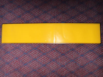 SELF ADHESIVE / STICK ON VINYL BLANK NUMBER PLATE  OBLONG STANDARD  IN YELLOW