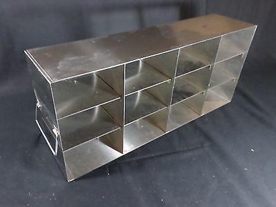 Laboratory Stainless Steel 12-position 3 Standard Box Freezer Rack 22 Deep