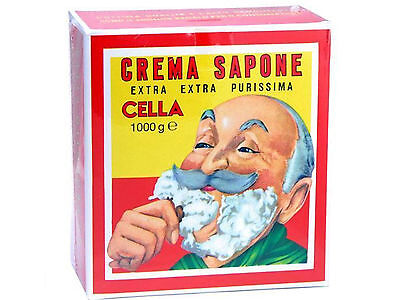 Sapone da Barba Cella Confezione 1 Kg all' olio di Mandorla Crema da Barba