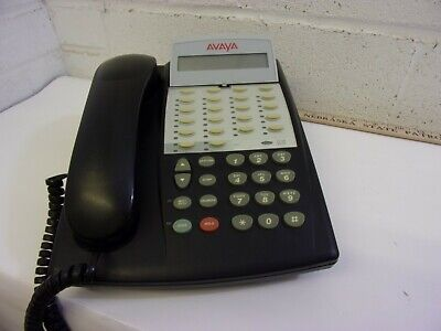 Avaya New Style 18 Button Partner Phone Black Lucent Att Acs 18d
