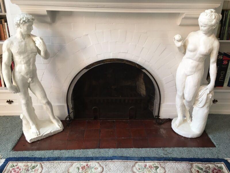 Pair Of Monumental Classical Figure Statuary