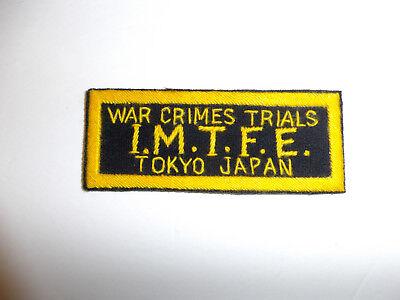 b2567 WW 2 US Army War Crimes Trials I.M.T.F.E. Tokyo Japan patch R9B