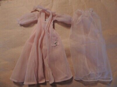 Vintage 1960's Barbie Nighty Negligee #965 2 piece set pink T L C