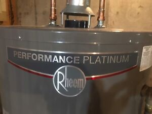 Rheem natural gas 60 gallon hot water tank