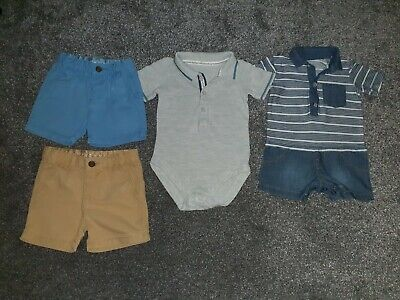 Baby Boys Summer Clothes Bundle age 3-6 Months Zara chino shorts, M&S bodysuit