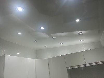 4 White Gloss Bathroom Wall Panels UPVC Shower Wet Wall Cladding Bathroom Panel