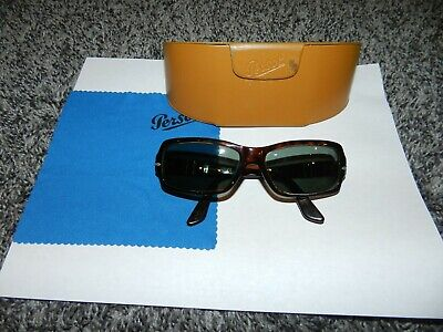 VINTAGE PERSOL 2758-S MADE in ITALY SUNGLASSES FRAMES in BROWN 56 - 13 : 130