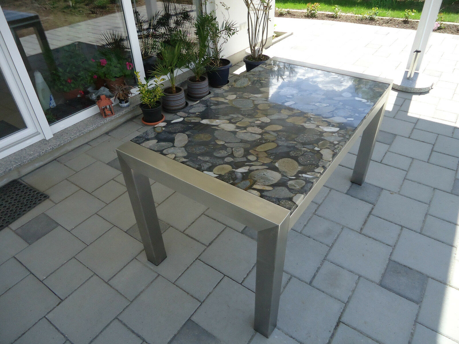 gartentisch mit steinplatte stunning siena garden almada. Black Bedroom Furniture Sets. Home Design Ideas