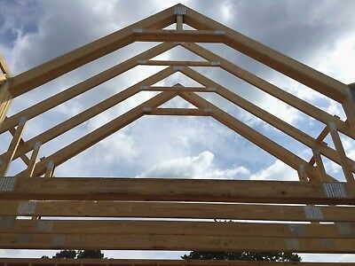 Wood Floor + Roof Trusses Clear Span Pitch Engineered All Sizes Available!