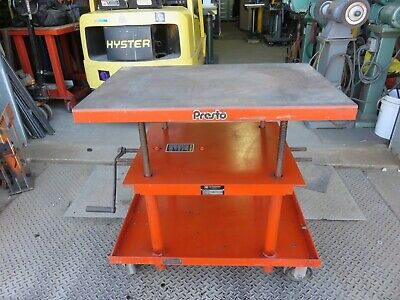 Presto Lifts P2436 Mechanical Hand Crank Post Lift Table Wesco Lexco Die Table