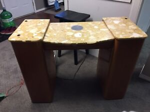 Nail desk with ventilation