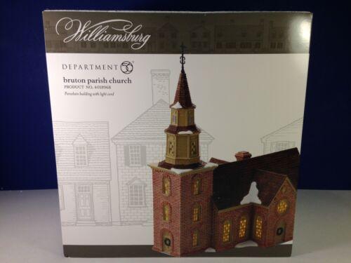 Dept 56 Williamsburg BRUTON PARISH CHURCH 4018968 Brand New!