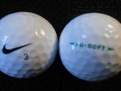 "40  NIKE ""PD SOFT"" - BLACK SWOOSH - Golf Balls - ""PEARL/A"" Grades."