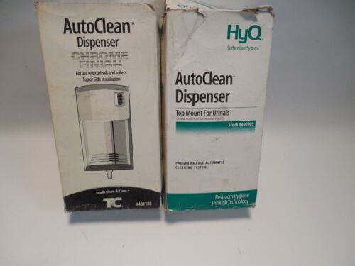 LOT OF TWO NEW Auto Clean Dispenser Chrome Finish 401188 TC and 400909