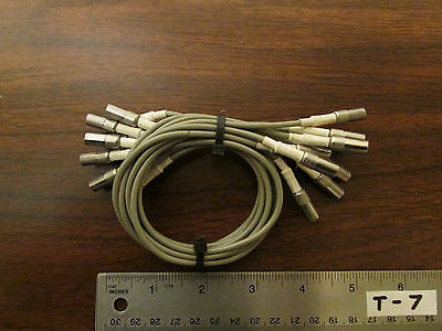 Bundle of 10 RF Microwave Interconnect Cables SMB-SMB  12 Inches