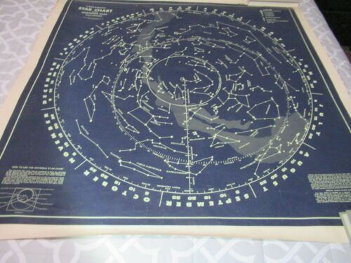 Universal Star Chart of the Northern Skies VERY RARE 1962 T N Hubbard Sci. Co.
