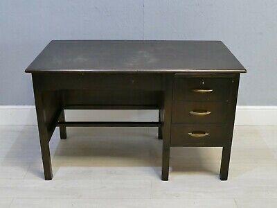 Vintage Dark Wood Office Desk with Drawers         322