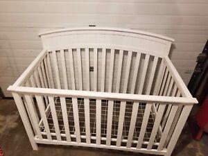 White crib ,