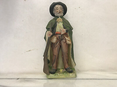 Old Fashioned Sculpture of Hunter w/Crossed Arrow and Sword Mark - Vintage