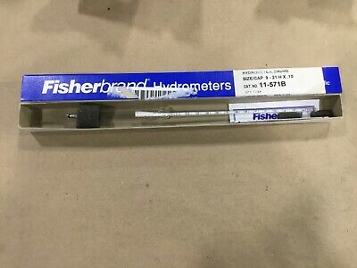Fisher 11-571-b Hydrometer Baume 9 To 21 19d32tk