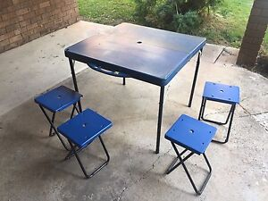 Foldable table and chairs Guildford West Parramatta Area Preview