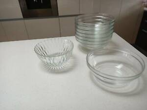 Glasss Salad Bowls