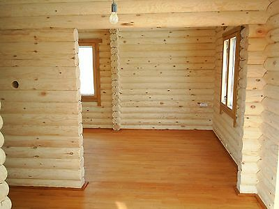 LOG CABIN HOME shell kit logs 1266 sq.ft 36' x 24' with loft and porch