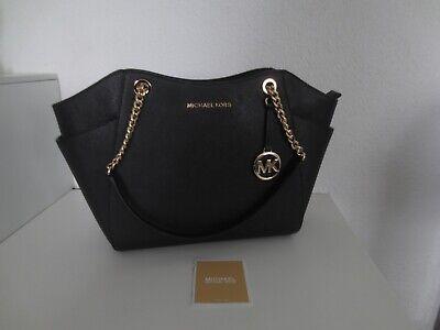 Michael Kors MK Tasche CHAIN TRAVEL LG Black Schwarz / Gold Schultertasche neu
