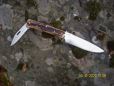 Vintage Custom Stag Scagel Northwoods Drop Point Bushcraft Hunting Knife