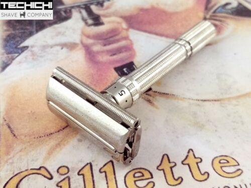 1964 J1 Gillette Slim Adjustable Vintage Double Edge Safety Razor