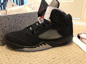 Brand New Nike Air Jordan Retro 5 OG Black Metallic