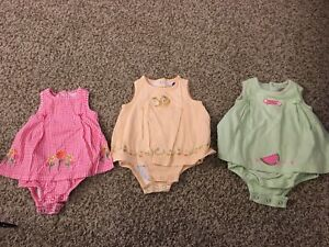 0-3 month onesie dresses